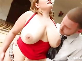 Takes hard cock deep in her ass...