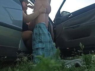 Outdoor sex, dogging lover in car