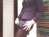 Cum in my favourite business suit