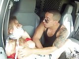 Helpless girl roped and dominated by dirty driver