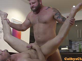 Tattooed cocksucking before anal...