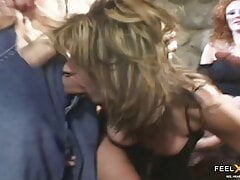 Slutty MILF as student for double anal!