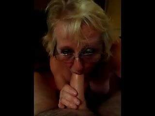 Granny sucks cock...