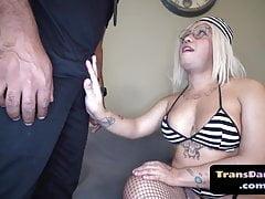 Curvy Culo Trans Interracially Barebacked