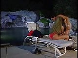 Lifeguard babe Holly Body fucking colleague by the pool