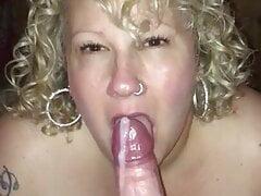 Horny MILF teases her man until he cums