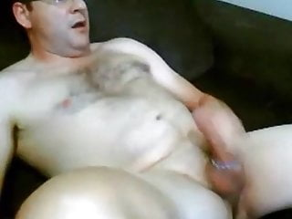 Stroking with cock ring...