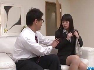 Kotomi Asakura craves for cock in her moist vagina