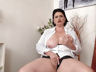 Legit mommy with fantastic colossal boobs and hungry clit