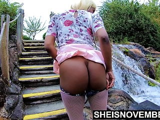 Msnovember 4k HD Erotic Slow motion Outdoor Public Ass Flash