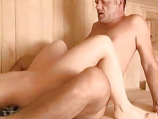 Amateur pussy is getting fucked in the sauna