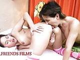 GirlfriendsFilms - Stepdaughter Practices Sex With Stepmom