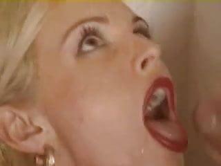 blonde takes messy facials