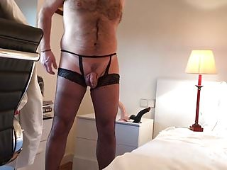 Thong and stockings by edugrana in barcelona...