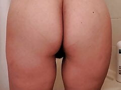 View of Wife's Ass While Naked in the Bathroom