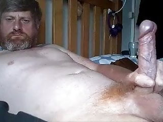 Handsome ginger daddy  jerking off.