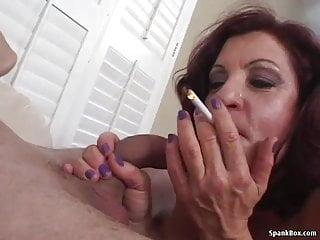 Smoking mom blowjob...