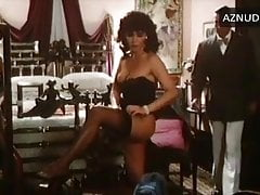 L. Carati getting dressed in bustier and stockings