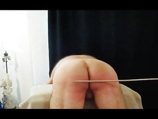 Spanked over the stool...