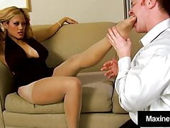 Asian Sex Fanatic Maxine X Milks Cock With Her Feet & Warm Mouth