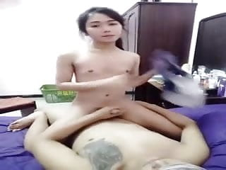 cum Cute girl ride and