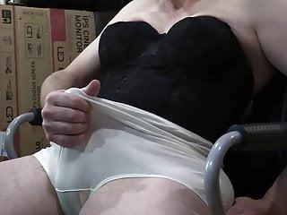 Longline bra white panty cumshot...