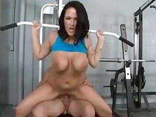 Personal trainer fucks tits...