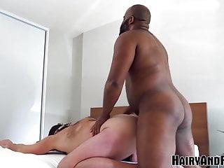 HAIRYANDRAW Hung Black Stud Emmet Frost Destroys Submissive
