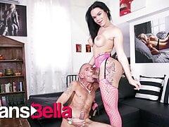 TRANSBELLA Big Ass TGirl Kelly Cesario Fucks Hard With Daddy