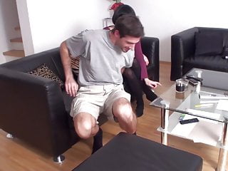 lea train her slave oscar for foot massage