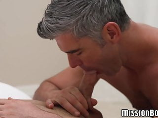 Older mormon initiates younger gay and pleases...