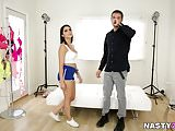 Valentina Nappi plays with the photographer