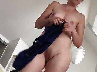 sexy wife showing shaved pussy off