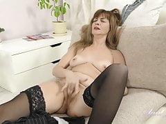 Auntjudys .. Full-bush 44yo Aunt Olga Touches Her Unshaved Pussy