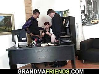 Share sexy redhead mature office boss...