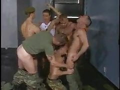 Lucky Cadet Gets 5 Big Cocks In Uniform