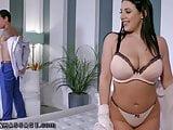 NuruMassage Angela White Oils Up Tits for Hot Nuru Fuck