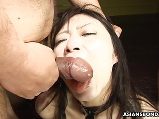Eri Kitahara were given facefucked through a bunch of in need of sex males