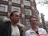 Real Amsterdam hooker cock slaps tourist