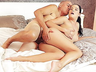 Daddy4k beautiful chick man unite naked bodies in...