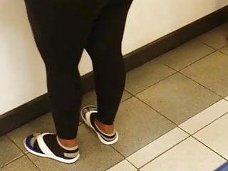 Phat ebony booty at post office...