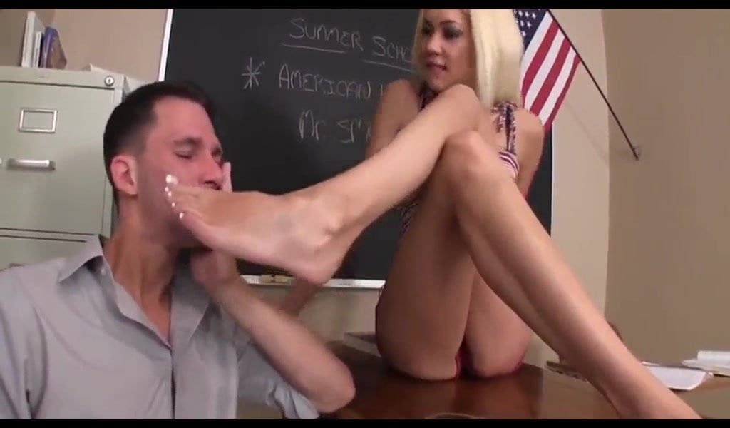 Tape Gagged Foot Worship