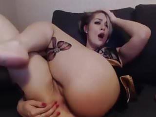 Short hair ass needs toy sex...