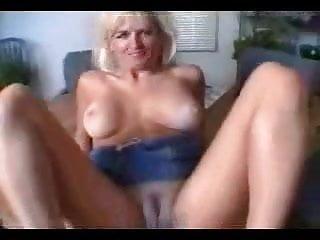 Nasty blonde creampie...