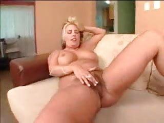 Busty blonde...