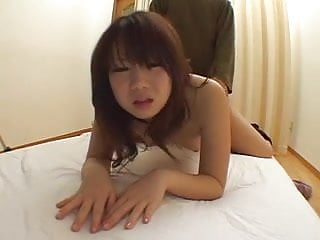 Hairy japanese girl rides and does doggy...