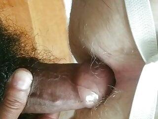 Hooded manmeat teasing and fucking hole
