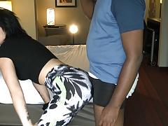 Grinding in sexy leggings