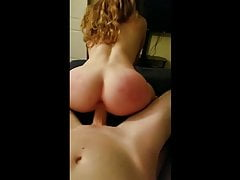 Big ass wife rides big white dick