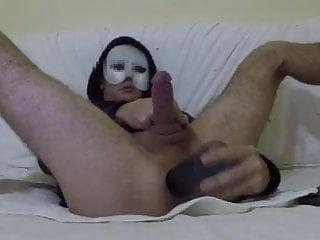 Intense cumshot anal orgasm with dildo...